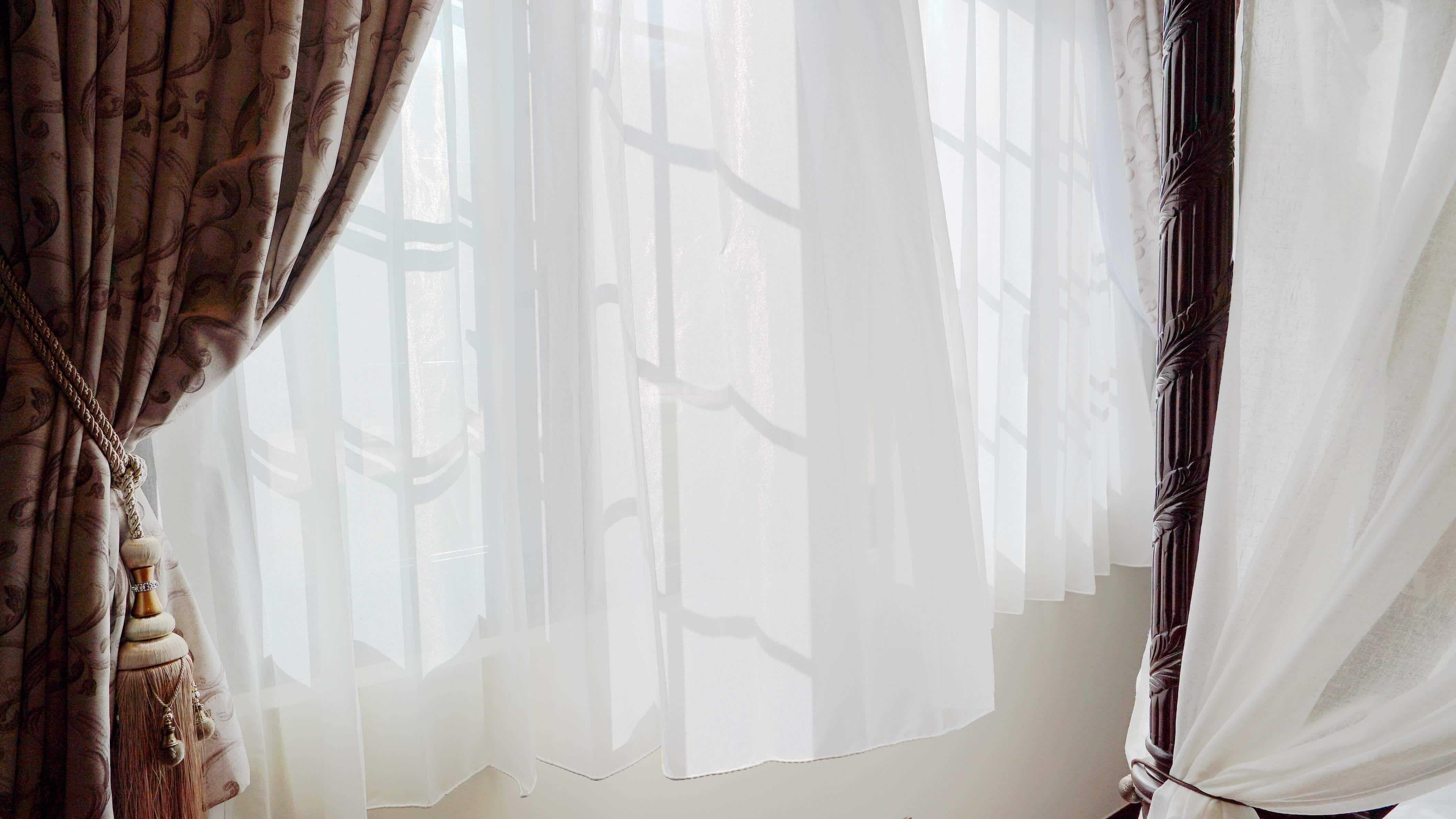 進口印花布 藝術軌 防焰進口紗 鄉村復古 民宿窗簾案例
