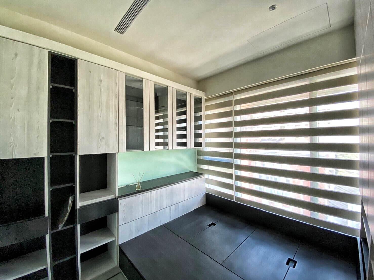 台中窗簾推薦案例 100 完全遮光 調光簾 房間窗簾設計